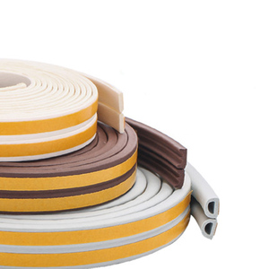 Image 2 - 10M/roll Self Adhesive door seal strip Rubber Weather Strip Windproof Soundproof window sealing tape  hardware accessories
