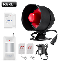KERUI дешевые Модернизированный автономный Беспроводной домашняя система охранной сигнализации комплект сирена Рог с детектором движения DIY...