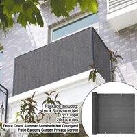 Cerca capa de costura fivela varanda jardim brisa vento privacidade tela abrigo toldo ao ar livre decoração acessório pára-sol net