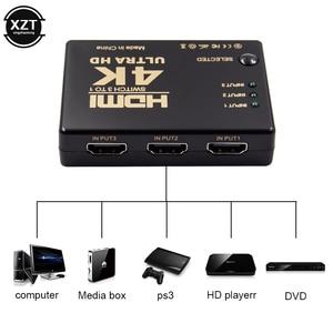 Image 1 - Mini commutateur HDMI 4K HD1080P 3 5 ports HDMI séparateur de commutateur avec Hub IR télécommande pour HDTV DVD TV BOX Z2