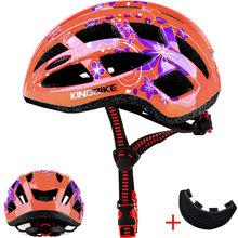 KINGBIKE rower dla dorosłych kask kobiety MTB kask rowerowy z czapka przeciwsłoneczna pomarańczowy odkryty Safty kolarstwo kaski capacete ciclismo tanie tanio (Dorośli) kobiety j-657 0 25KG 20 Ultralight kask Detachable Sun cap Bicycle Cycling Skating Outdoor Sport Protect Blue Orange Pink Yelllow