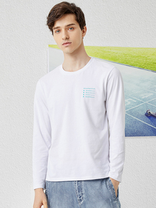 Image 2 - Pioneer 2020 Spring T shirt Men Long Sleeve Solid 100% Cotton Letter Printed O neck Fashion Causal T shirts Mens ACT0102011