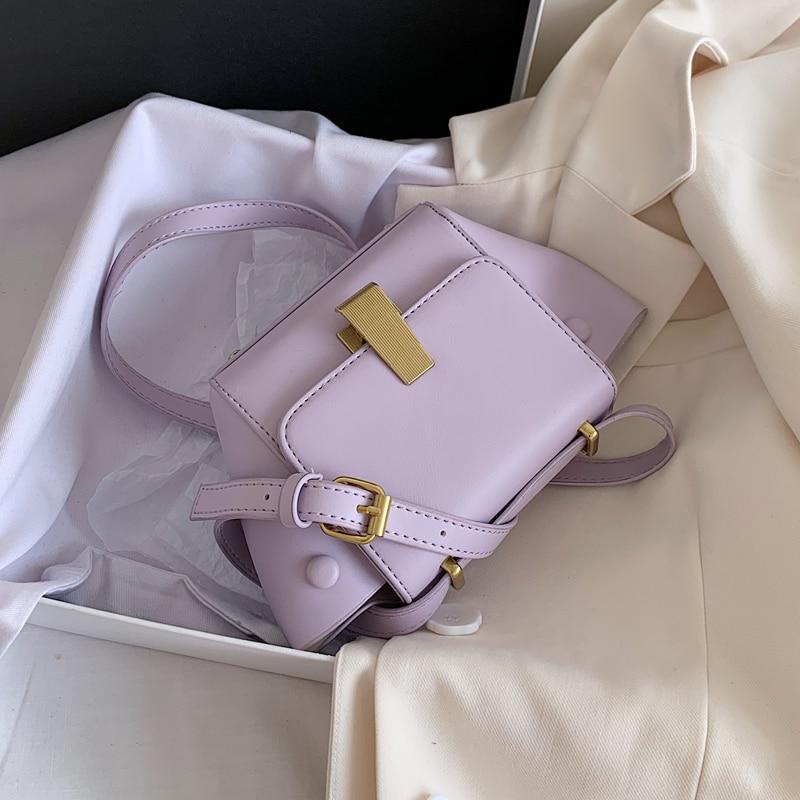 Elegant Female Solid Color Crossbody Bag 2020 Smer New High Quality Lather Women's Handbag Casual Tavel Shoulder Messenger Bag