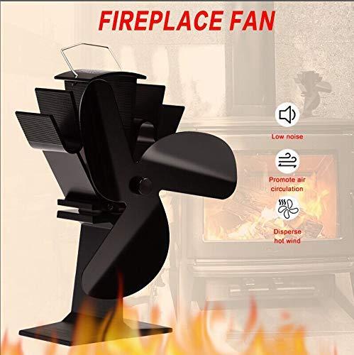 Double Head 3 Blades Fireplace Fan Winter Heat Powered Stove Fan Wood Burner Heat Distribution Eco-friendly Quiet Fan Heater Hot