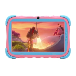 Android 7.1 Tablet PC mit 7 Inch IPS Auge Schutz Bildschirm 1GB + 16GB WiFi Kamera Bluetooth GMS Zertifiziert kinder-Beweis Kinder Tab