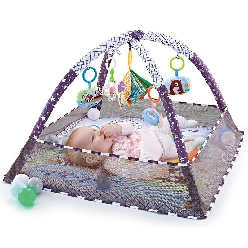 Baby fitness rahmen jungen und mädchen krabbeln spiel decke puzzle multi-funktion zaun kriechen matte aufklärung spielzeug 0-18