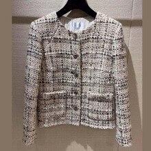 2019 amazing winter coat female elegant tweed jacket plus size casaco feminino 5