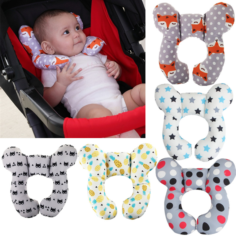 Protective Travel Car Seat Head And Neck Pillow Soft Neck Support Pillow Children U Shape Headrest Head Protection Cushion