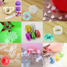 Balloon Chain Clip Glue DIY Modeling Tool Plastic Decoration Wedding Party Birthday Backdrop Decor Ballons Accessories Supplies