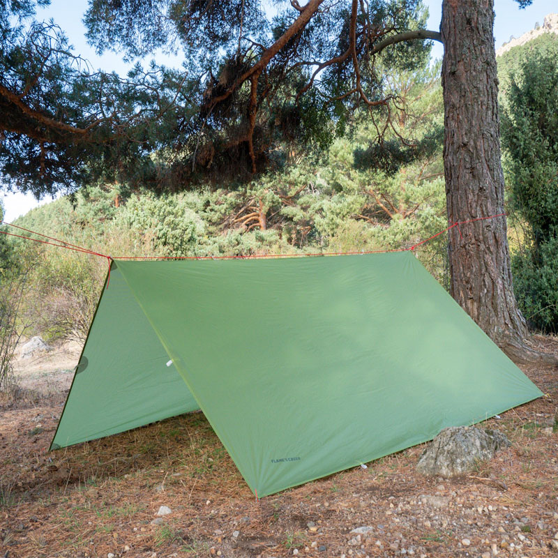 FLAME'S CREED Just 510 Grams  3*3 Meters 15D Nylon Silicone Coating High Quality Outdoor Caming Tent Tarp