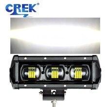 CREK 8 15 21 28 34 41 47 53 Inch Flood Beam Offroad LED Work Light Bar 4wd SUV ATV LED Bar For Pickup 4WD 4x4 UTV Offroad Truck