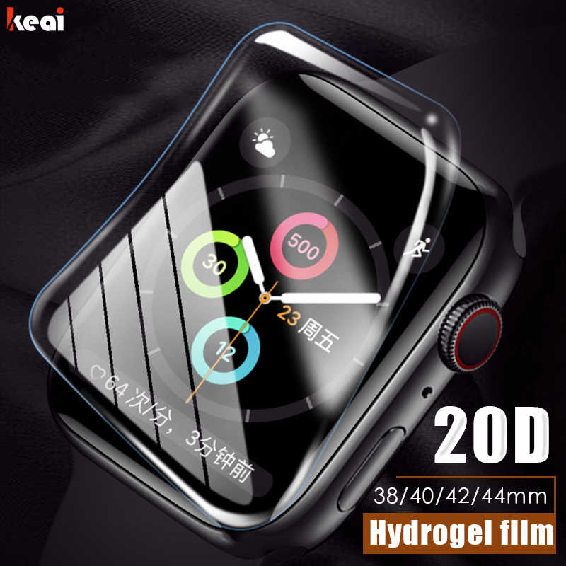 20D Full Cover Hydrogel Film For Apple Watch 38mm 40mm 42mm 44mm Screen Protector For Watch 38MM 40MM 42MM 44MM Film Not Glass