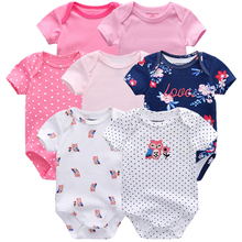 En kaliteli 7 adet/grup bebek erkek kız elbise 2020 moda ropa bebe çocuk giyim yenidoğan tulum genel bebek kız tulum