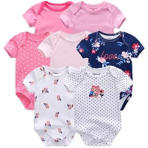 Image 1 - En kaliteli 7 adet/grup bebek erkek kız elbise 2020 moda ropa bebe çocuk giyim yenidoğan tulum genel bebek kız tulum