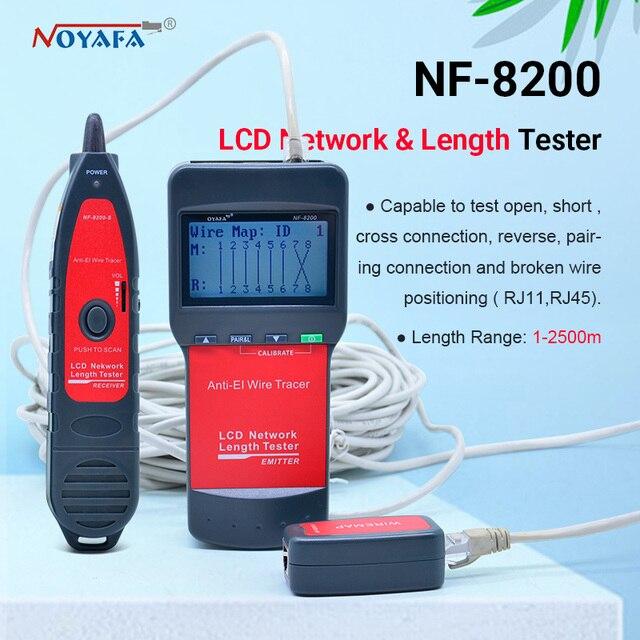 Тестер сетевого телефонного кабеля NF_8200 LCD LAN тестер RJ45 Кабельный тестер Ethernet кабельный трекер