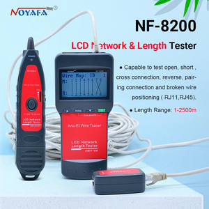 Image 1 - NF_8200 LCD LAN Tester Netzwerk telefonkabel tester RJ45 Kabel Tester Ethernet Kabel Tracker NOYAFA NF 8200
