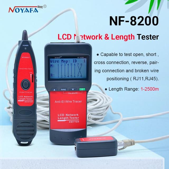 NF_8200 LCD LAN Tester Netzwerk telefonkabel tester RJ45 Kabel Tester Ethernet Kabel Tracker NOYAFA NF 8200