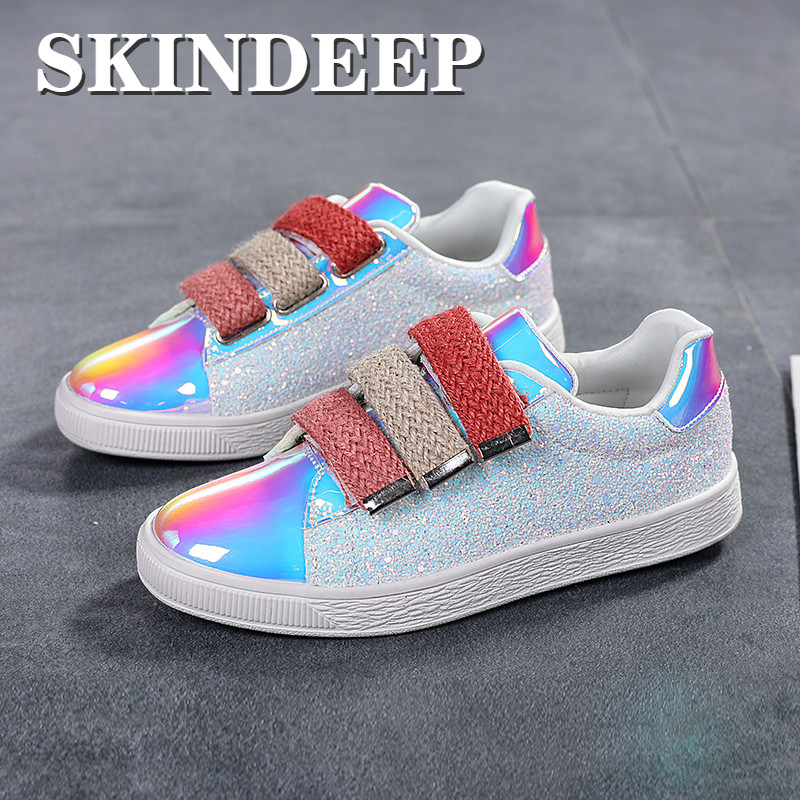 Spring Shiny Women Shoes Ladies Casual
