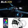 Auto LED EL Neon Streifen Lichter RGB Umgebungs Licht Sound Control Mit 12V Zigarette Leichter Auto Innen Dekorative Atmosphäre lampe