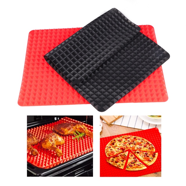 1PC Pyramid Bakeware Pan 4 color Nonstick Silicone Baking Mats Pads Moulds Cooking Mat Oven Baking Tray Sheet Kitchen Tools
