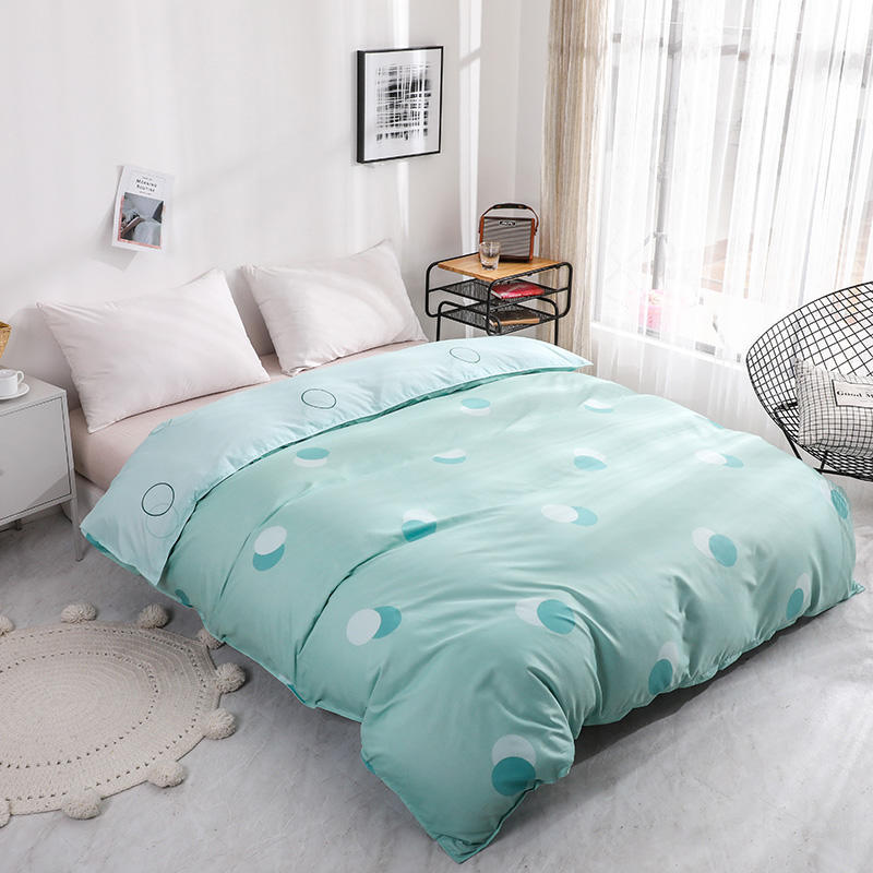 Green Wave Point Printed Duvet Cover With Zipper Quilt Cover Comforter Cover Twin Full Queen King Bedclothes Bed Linen Bed Sets