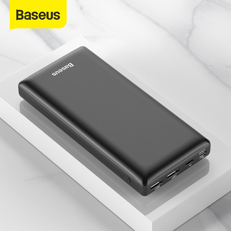Baseus 30000mAh Power Bank USB PD Fast Charging Powerbank Portable External Battery Charger with Two