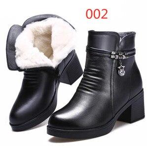 Image 2 - ZXRYXGS bottes de marque pour femme, chaussures dhiver en cuir véritable, tendance, en laine chaude, hiver, 2020