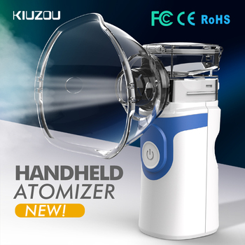 Portable Ultrasonic Nebulizer Mini Handheld Inhaler Respirator Humidifier Kit Health Care Children Home Inhaler Machine Atomizer Beauty & Health