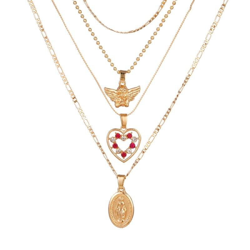 VKME модное жемчужное ожерелье с двойным слоем Love аксессуары Женское Ожерелье Bijoux подарки - Окраска металла: ZL0001045