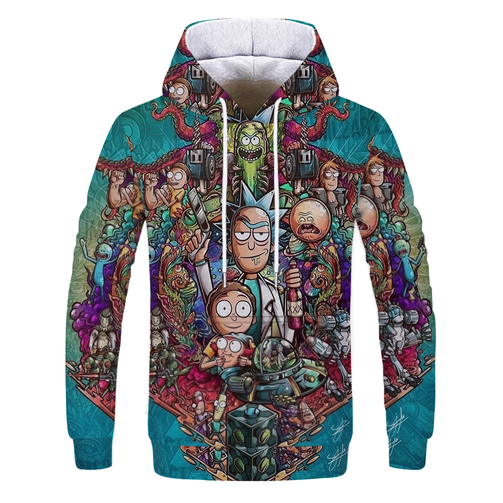 Hoodies Anime Rick And Morty Hoodies By  Art 3d Unisex Sweatshirt Men Brand Hoodie Casual Tracksuit Pullover Anime Hoodie