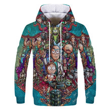 Hoodies Anime Rick and Morty hoodies By Art 3d Unisex Sweatshirt Men Brand Hoodie Casual Tracksuit Pullover Anime Hoodie(China)