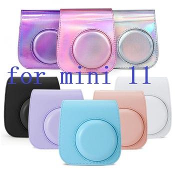 Dla Fujifilm Instax Mini 11 akcesoria do kamery artysta farba olejna PU skóra natychmiastowa torba na ramię aparatu obudowa ochronna tanie i dobre opinie Eproperous BŁYSKAWICZNY APARAT FOTOGRAFICZNY CN (pochodzenie) torby na ramię Torebki na aparat for Fujifilm Instax Polaroid Mini 11