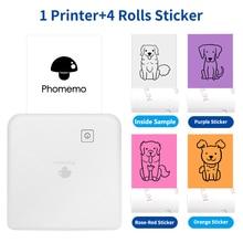 Inkless Sticky Note Printer Colorful Photos Printing Phomemo M02 Pro Wireless Label Maker 300dpi DIY Mobile Phone Mini Impresora