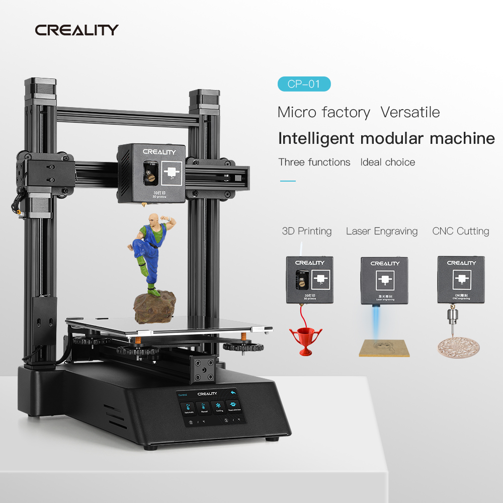 New CREALITY 3D Printer Ender CP-01 FDM Upgraded Optional Can  Laser Engraving CNC Cutting 3D Printing PLA  ABS  TPU  PVA 2019