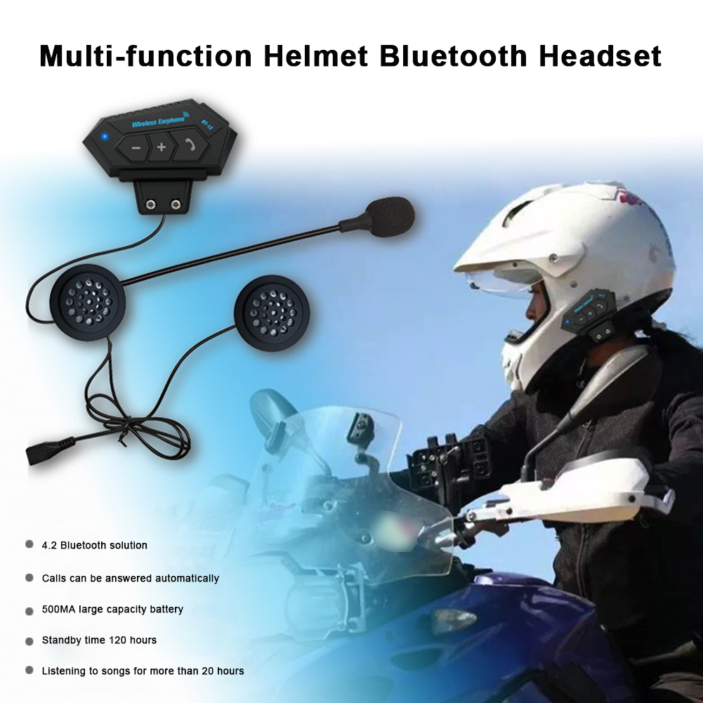 Bluetooth 4.1 Moto Helmet Helmet Intercom Headset Wireless Handsfree Stereo Earphone Motorcycle Helmet Headphones MP3 Speaker