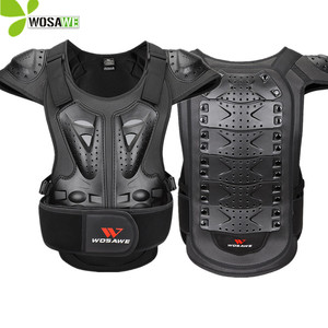 WOSAWE Sports Back Protector Jacket Body Support Bandage Motorcycle Vest Suits Protective Gears Chest Shoulder Ski Protection