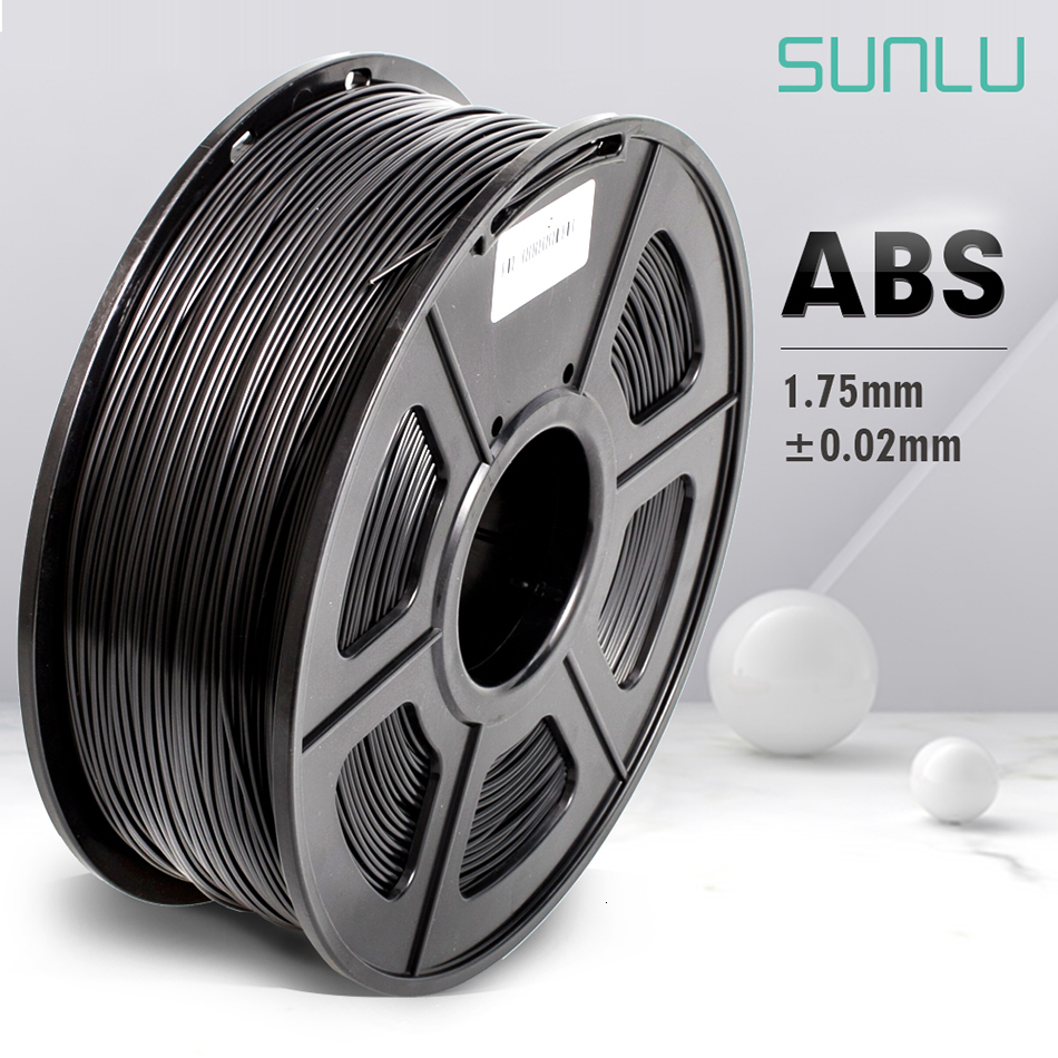 Black ABS Filament 1.75 mm 1KG ABS Plastic 3D Printing Filament For 3D Printer Supplies Extruders 3D Printing Material