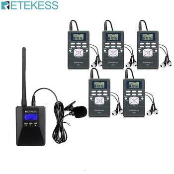 1 FM Transmitter TR506+5Pcs FM Radio Receiver PR13 Wireless Voice Transmission System For Guiding Church Conference Training