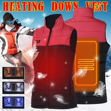 Warm Men Women Winter USB Infrared Heating Vest Flexible Electric Thermal Waistcoat Fish Hiking S-2XL Outdoor Jackets cheap CN(Origin) Fits true to size take your normal size