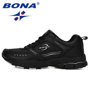 Image 4 - BONA 2019New Designer Running Shoes Men Sports Cow Split Sneakers Male Athletic Footwear Zapatillas Walking Jogging Shoes Trendy