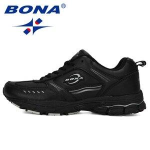 Image 4 - BONA 2019New tasarımcı koşu ayakkabıları erkekler spor inek bölünmüş Sneakers erkek atletik ayakkabı Zapatillas yürüyüş koşu ayakkabıları moda