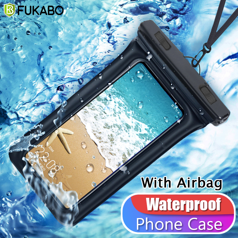 Waterproof Bag Swimming Surfing With Airbag Phone Case For Xiaomi Redmi Note 9s 7 8 Pro iPhone 7 11 Pro XS Max X Samsung A71 A51(China)
