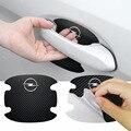 4 шт. новые наклейки на дверные ручки автомобиля аксессуары Защитная пленка для Opel Astra H G J Insignia Mokka Zafira Corsa Vectra C D Meriva