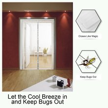 Summer Anti Mosquito Insect Fly Bug Curtains Net Automatic Closing Door Screen Kitchen Curtains ployester fiber Curtains 2020 summer anti mosquito insect fly bug curtains net automatic closing door screen kitchen curtains black