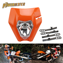 Farol universal para motocicleta, farol para motocicleta ktm exc excf sxf xc xcw xcf xcfw 125 150 250 350 450 supermoto de dirt bike