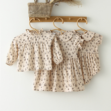 Summer Baby Girl Romper Vintage Linen Floral Kids Outfits Infant Newborn Baby Jumpsuit Short Sleeve Baby Girl Summer Clothes