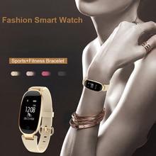"S3 Bluetooth עמיד למים חכם שעון אופנה נשים גבירותיי קצב לב צג גשש כושר Smartwatch בחו""ל מחסן"