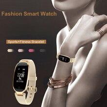 S3 بلوتوث ساعة ذكية مقاوم للماء موضة النساء السيدات مراقب معدل ضربات القلب جهاز تعقب للياقة البدنية Smartwatch في الخارج مستودع