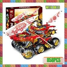 цены New 858pcs Ninja Land Bounty Truck Model Building Blocks Compatible with Ninjagoes Bricks 70677 Toys for Children Kids