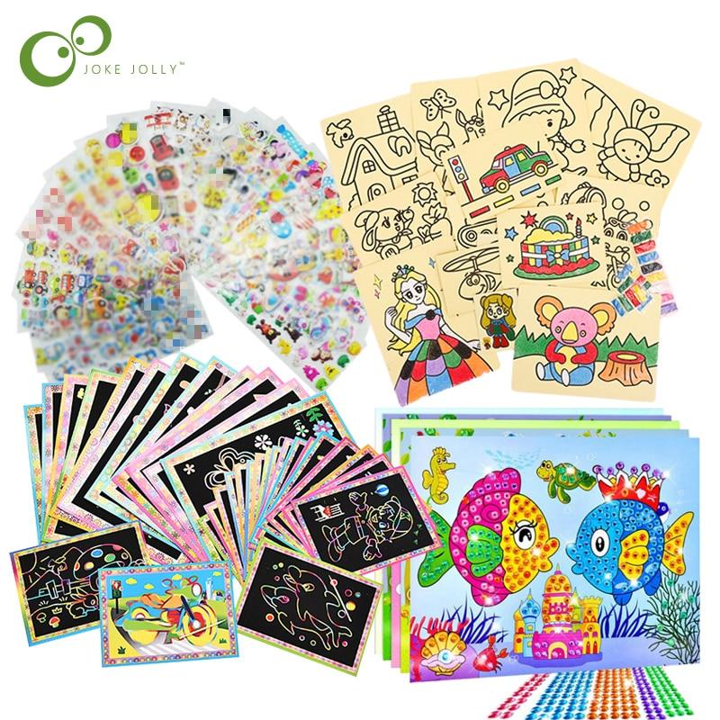 20 шт./10 шт., волшебные царапины, художественные каракули, карты для рисования песком, раннее обучение, творческие игрушки для рисования для д...
